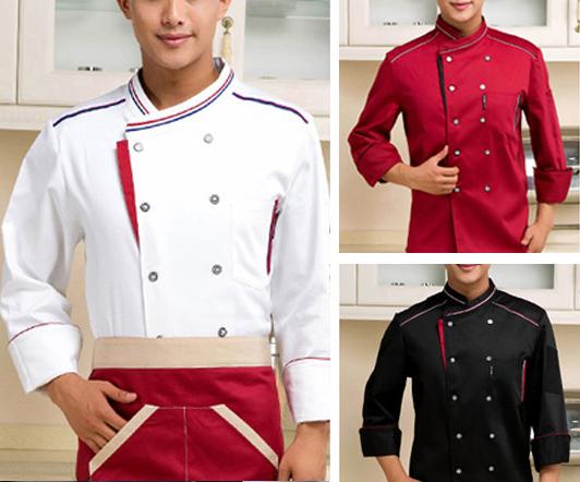 拼接厨师服