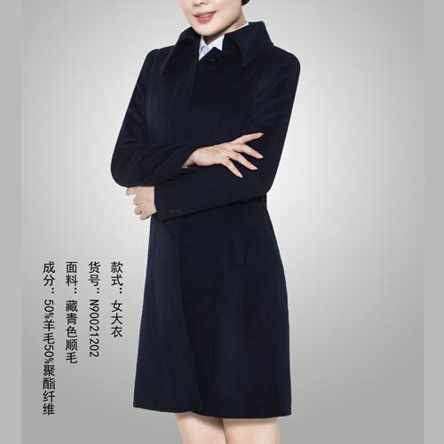 新款女式中长款呢子大衣定制
