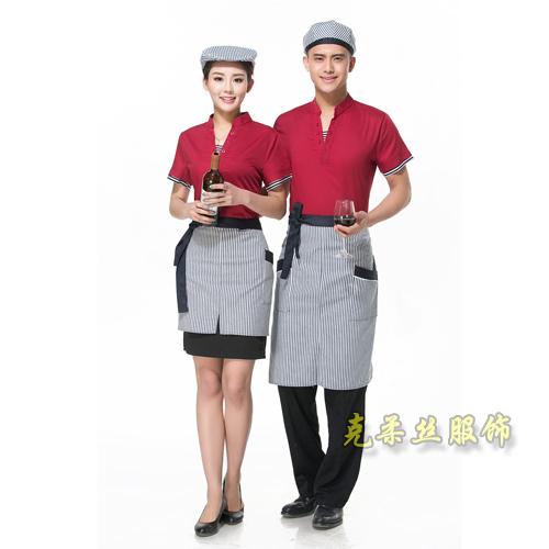 服务员短袖工作服定制厂家