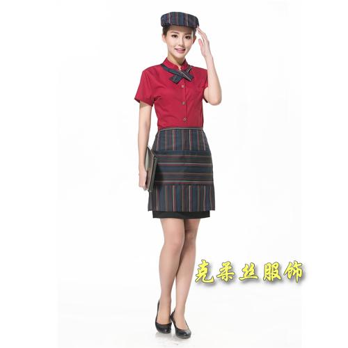 厂家定做咖啡西餐厅员工制服夏 酒店工作服短袖 餐饮火锅店服务员工作服男女