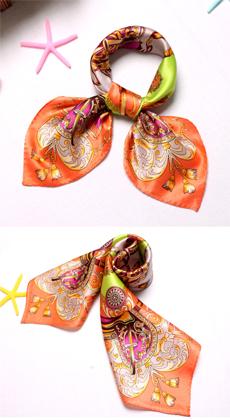 韩版职业真丝小方巾 移动公司,银行,酒店丝巾 前台礼仪小姐空姐小方巾