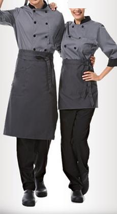 武汉定做双排扣马蹄袖厨师服西餐厅饭店酒店厨房立领秋冬装男女长袖厨师服