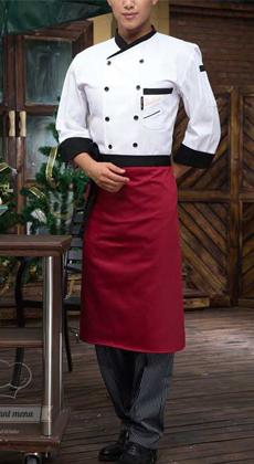 厨师服长袖秋冬装厨房服装厨师长制服秋冬装厨师酒店工作服厨衣定制