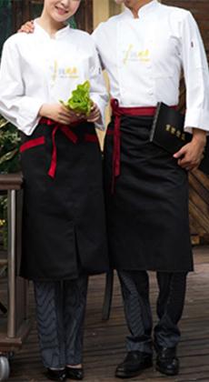 饭店长袖厨师工作服定制