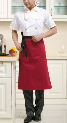 定制酒店厨房短袖厨师服