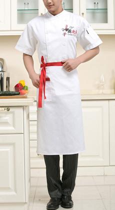 饭店夏季短袖工作服定制