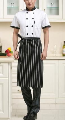 湖北武汉定做厨师服装半袖夏装 男女酒店餐厅蛋糕房西餐厨房工作服