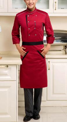 秋冬九分袖酒店西餐厅糕点房厨师服装定做酒店厨师服餐厅工作服定制
