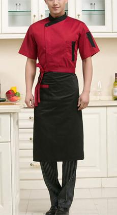 武汉夏季短袖厨师工作服定制