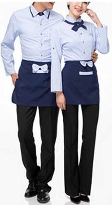 酒店工作服秋冬装女西餐厅服务员工作服长袖工作服火锅快餐店衬衫男女款定做