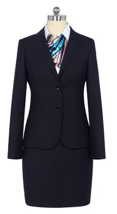 克柔丝定做女士春秋时尚韩版修身西装 仿毛两粒扣OL职业西服套装定制