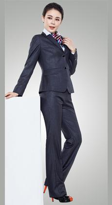 武昌定做男女式韩版修身西服套装 白领正装西服套装订做 两排扣 毛料西服
