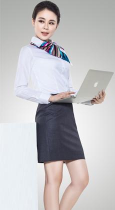 服装厂家定制男女士白衬衫长袖工作服定做商务修身服装条纹青年职业装衬衣