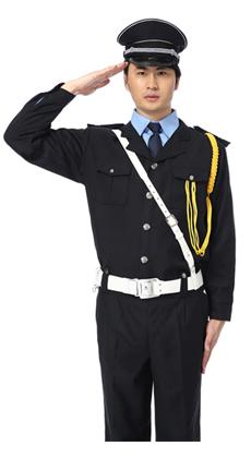 武汉保安服春秋套装定做 物业保安制服 保安服装小区长袖保安工作服定制