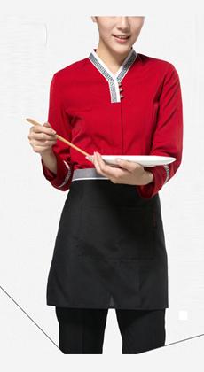 咖啡厅大口袋服务员围裙定做