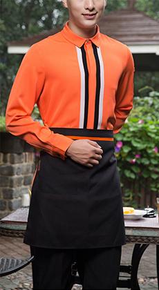 西餐厅快餐服务韩版围裙定做  酒店会所火锅店服务员工作围裙定制