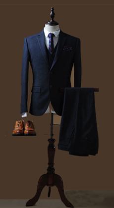 量身设计定做商旅修身款西装 定制男英伦西服套装 职业装定做