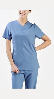定做欧美纯棉男女医生服护士服 口腔药店工作服洗手刷手衣短袖套装V领