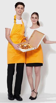 餐饮长围裙配件定做厂家