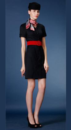 美容师中长款OL通勤修身包臀裙工作服定制 职业连衣裙女裙套装 电梯服 空姐服定做
