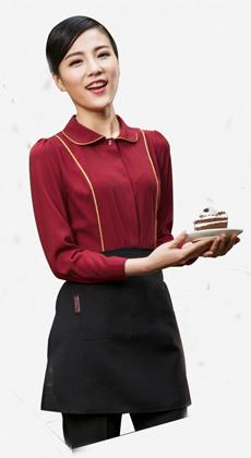 武汉定制餐饮酒店工作服衬衫秋装酒吧服务员服装 会所服务员工装快餐蛋糕店工作服