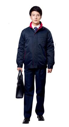 武汉服装厂批发工作服冬季加厚防寒夹克棉衣 快递送货棉服多功能工程装大衣棉衣