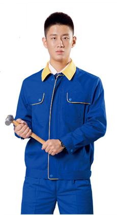 耐磨劳保服工装涤棉长袖汽修工作服套装男电焊汽修工服春秋季