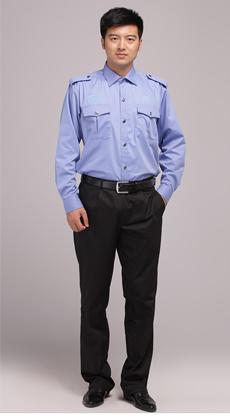 春秋季男女同款长袖保安衬衫定制