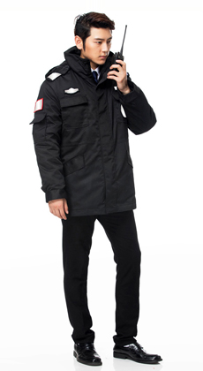 厂家定做多功能防寒棉大衣 保安服冬装棉服加厚 保安工作服棉袄冬季保安制服