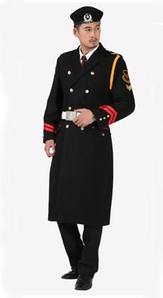保安呢子大衣工作服定做款式图片