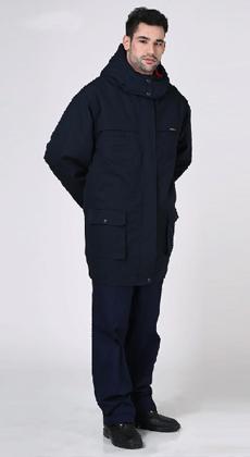 时尚加厚保安大衣定制