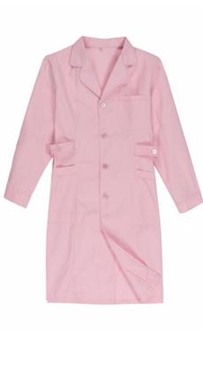 光谷服装厂定做中长款长袖粉蓝白女款医用制服 口腔医院美容院工作服 医生护士工作服 白大褂定做