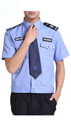 物业小区蓝色衬衣保安服定制