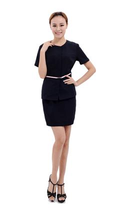 克柔丝量身定做女士时尚修身t套裙定制商务白领女职业装
