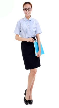 夏季女式白领制服订做厂家