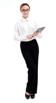 武汉春秋季女式修身款白领衬衣套装定制 商务白领制服定做 公司职业装定做