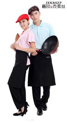 酒店 快餐食堂 面包房 短袖男女服务员工作服定做