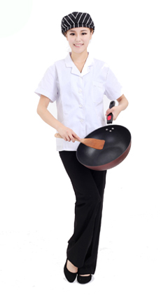 武汉服装厂家定做星巴克夏季短袖男女厨师服 餐饮酒店糕点房厨师服定做