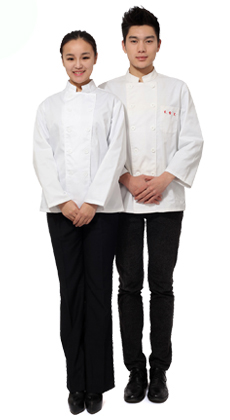 武昌服装厂家定做餐饮 酒店 咖啡厅 蛋糕房秋冬男女长袖厨师服 后厨厨师长服定制