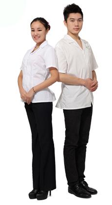 酒店餐饮厨师服 餐饮咖啡厅蛋糕房夏季男女厨师服 快餐食堂 翻领男女厨师服定做