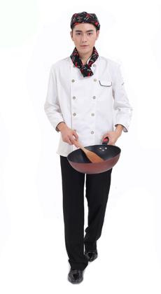 中餐厅七分袖厨师服定做