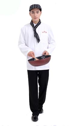 长袖男女同款厨师服定制厂家
