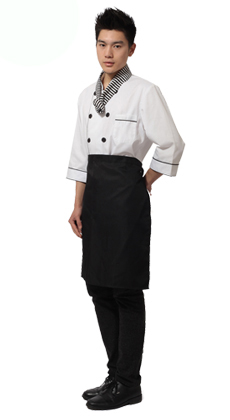 立领双排扣厨师服订做