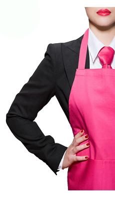 酒店服务员时尚围裙定做