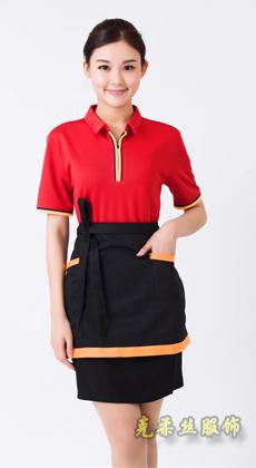 厂家定做超市广告T恤衫男 快餐店服务员工作服女短袖 翻领运动T恤可印logo