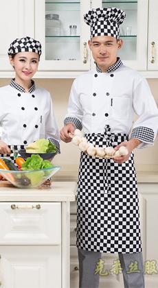 武汉酒店长袖厨师工作服定制