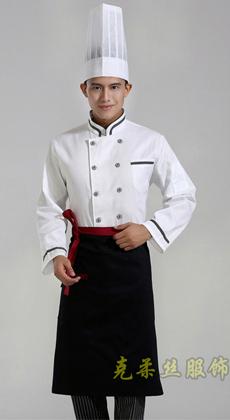 纯棉餐饮厨师服厂家订做