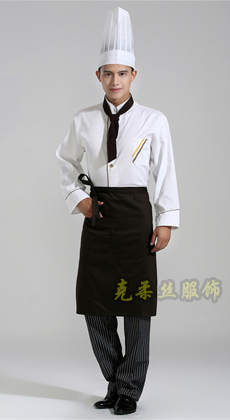 厂家定做火锅店后厨长袖工作服