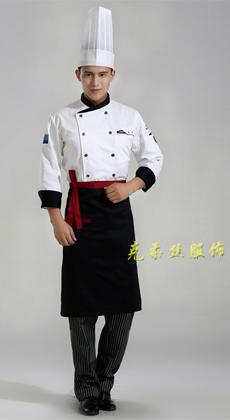 西餐厅长袖厨师服定做厂家