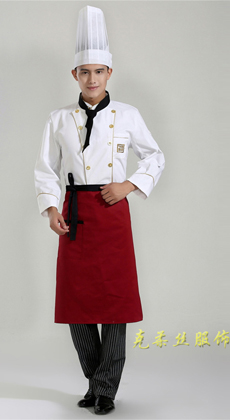 厂家订做长袖厨师工作服